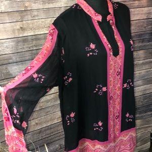 Silk beaded tunic